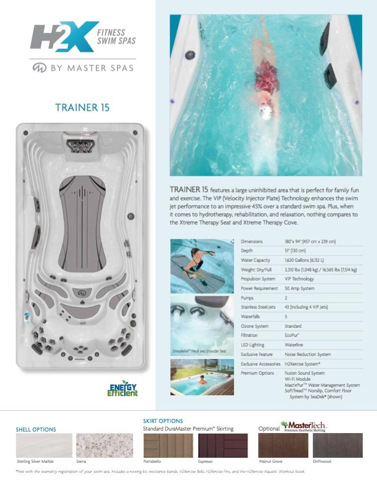 H2X Trainer 15 Swim Spa