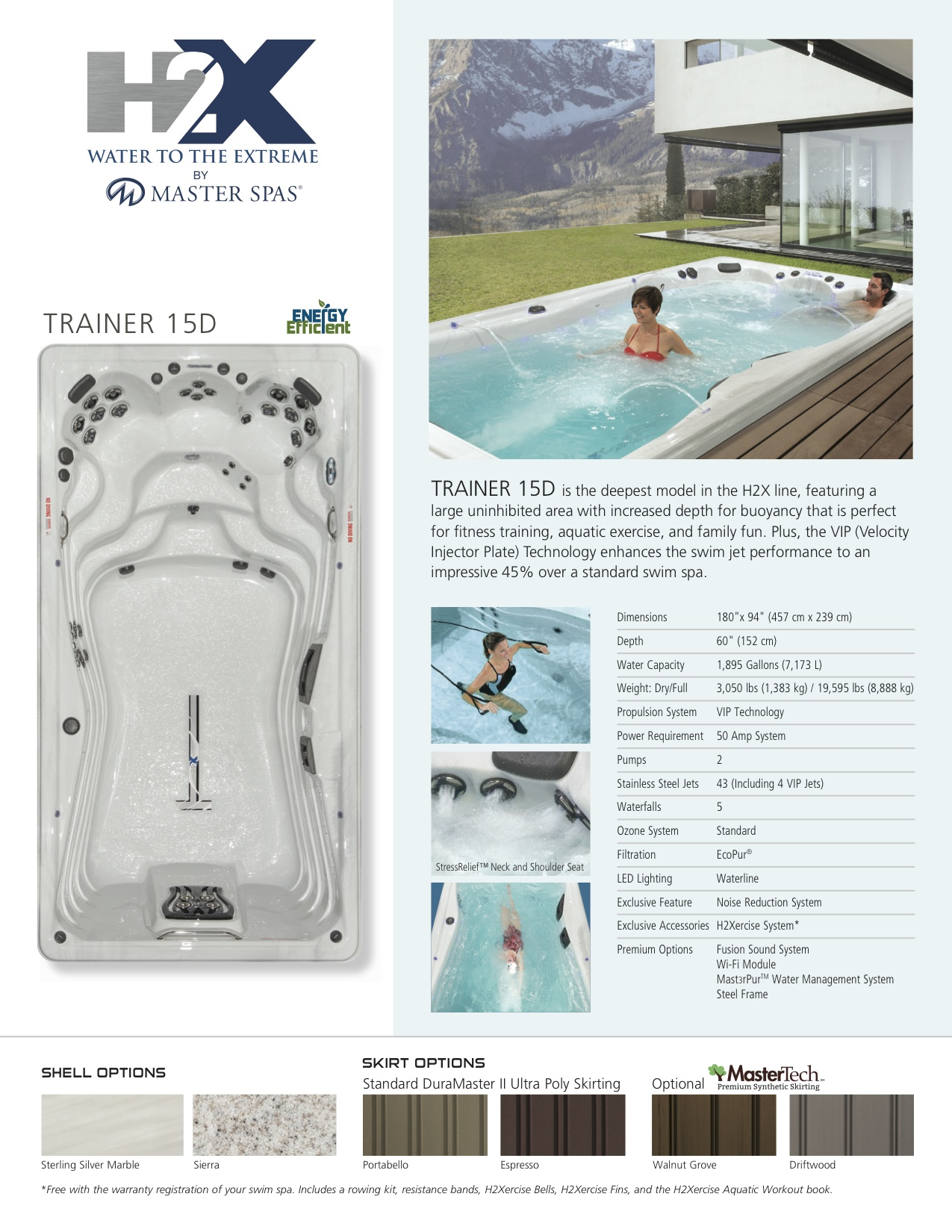 H2X Trainer 15 D Swim Spa