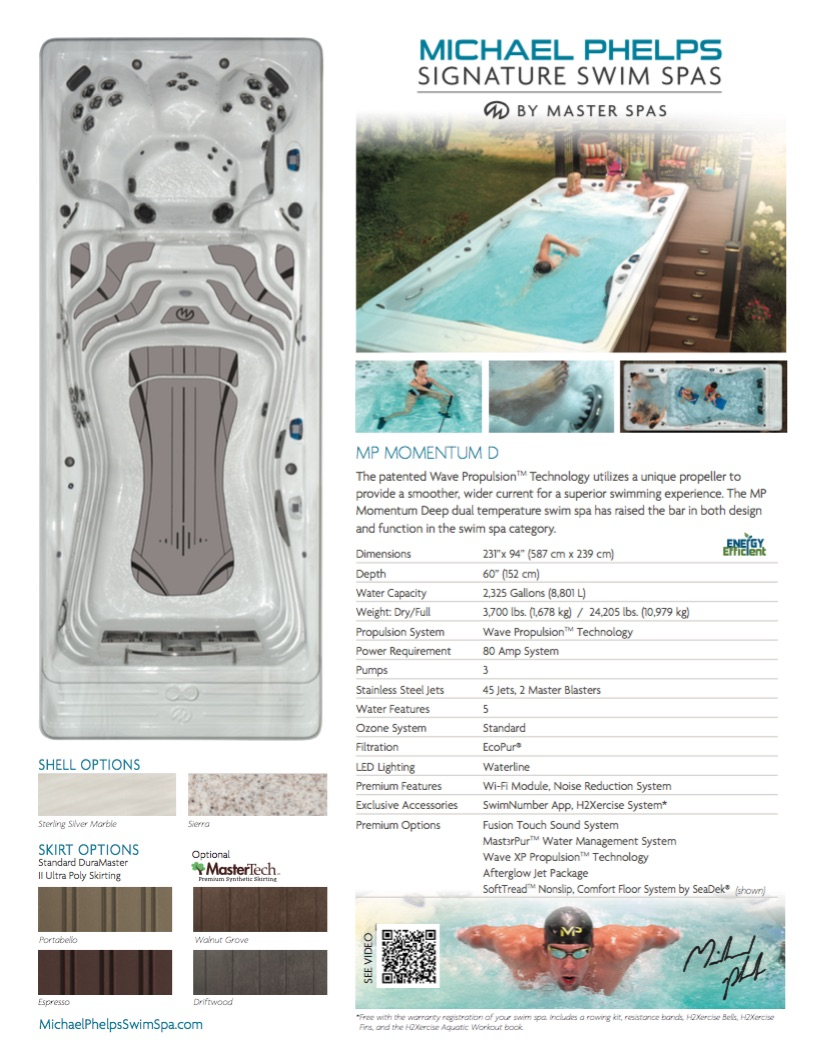 MP Momentum D Swim Spa